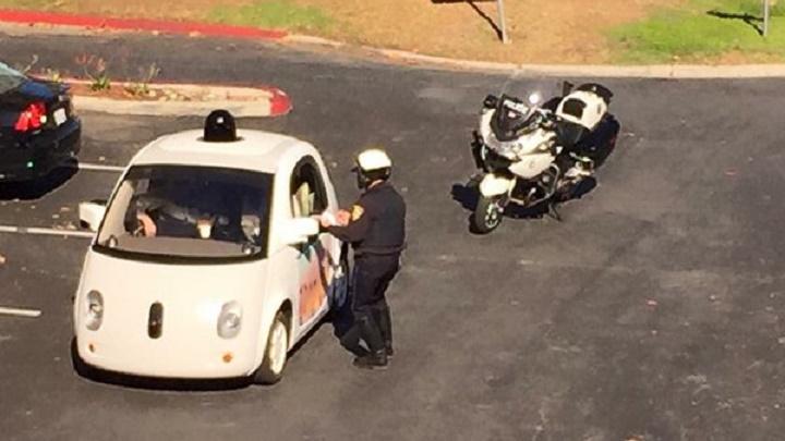 policia coche Google