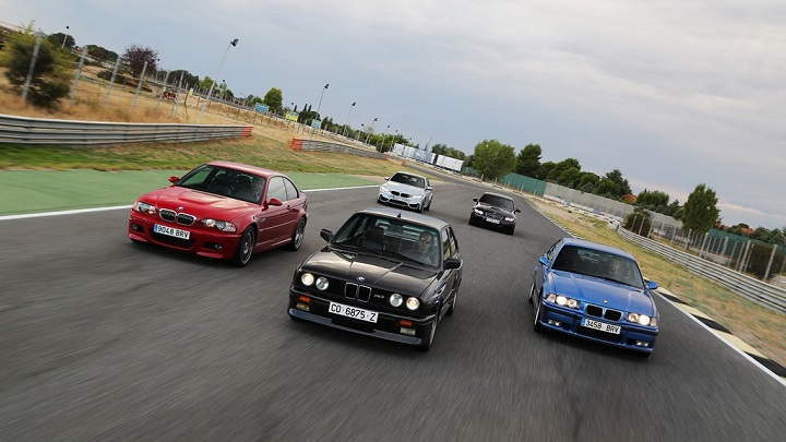 BMW M3 5 generations 2