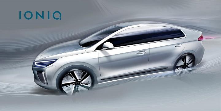Hyundai IONIQ lateral teaser