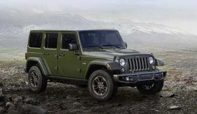 Jeep Wrangler 75 aniversario frontal tres cuartos