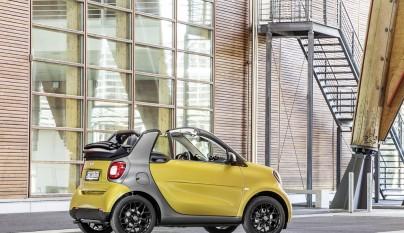 smart fortwo cabrio, prime, black to yellow / titania grey matt