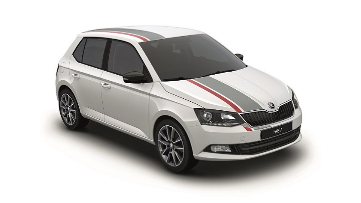Fabia Red and Grey
