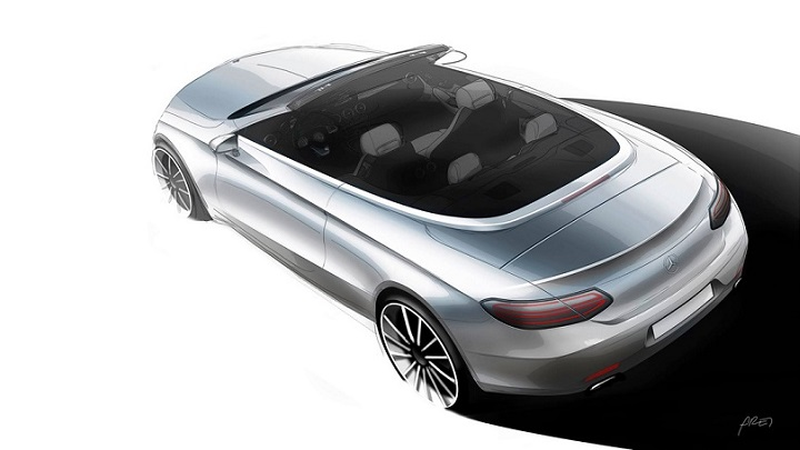 Mercedes Clase C Cabrio boceto