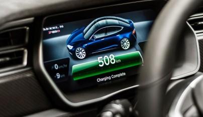 Tesla Model S cuadro de instrumentos