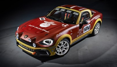 Abarth 124 Rally frontal tres cuartos