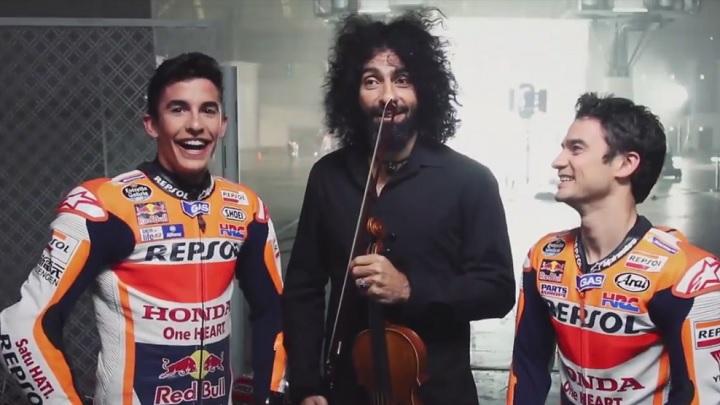 Dani Pedrosa Marc Marquez y Ara Malikian