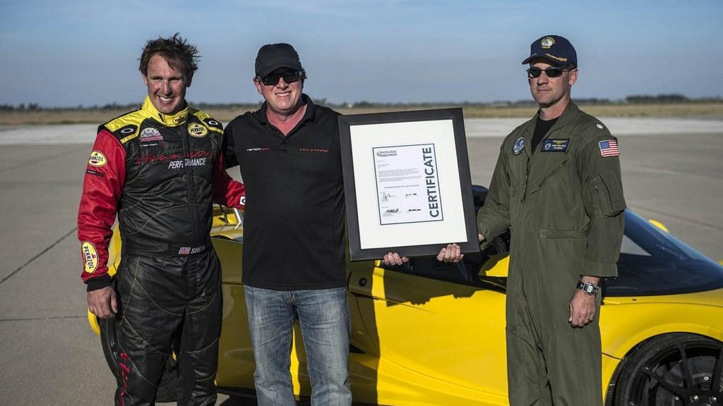 Hennessey Venom GT Spyder Record Guinness 3