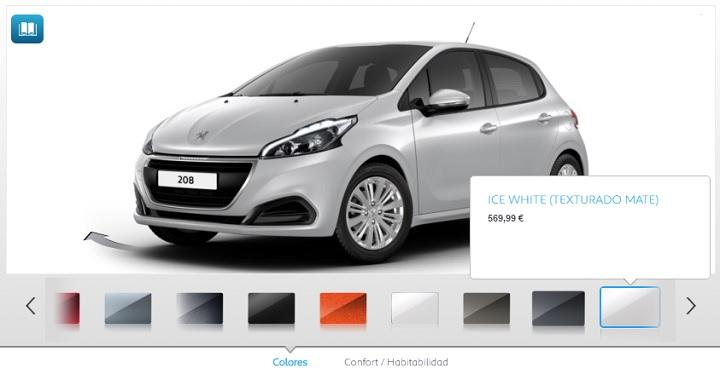 Ice White configurador Peugeot 208