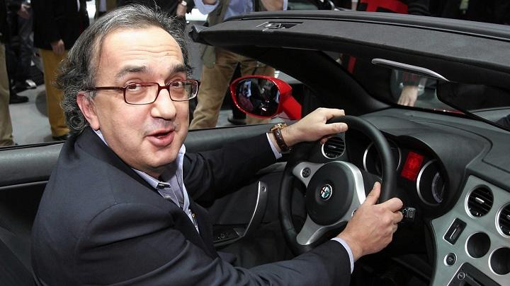 Sergio Marchionne en un Alfa Romeo