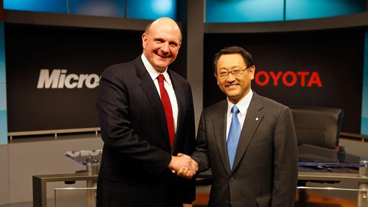 Steve Ballmer y Akio Toyoda