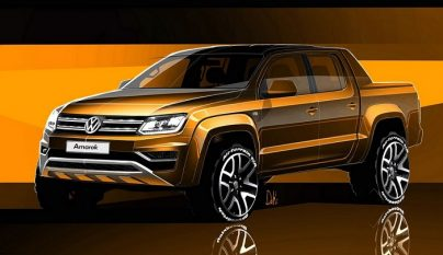 Volkswagen Amarok 2017 boceto 1
