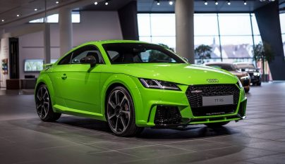 Audi TT RS verde lima 1
