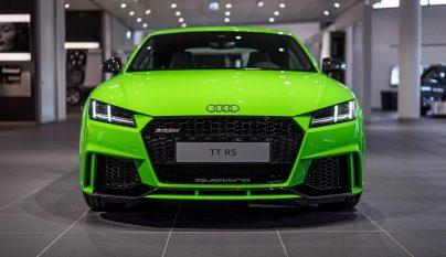 Audi TT RS verde lima 8
