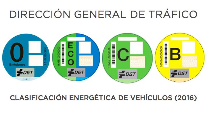 DGT CLASIFICACION ENERGETICA DE VEHICULOS 2016