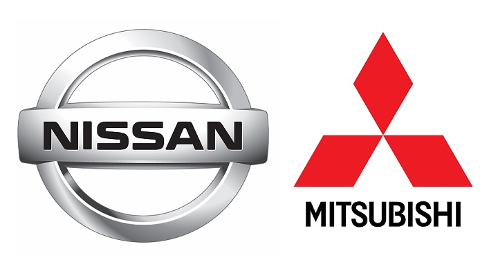 logos Nissan y Mitsubishi