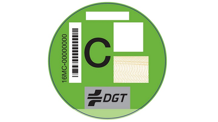 pegatina verde DGT