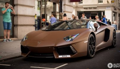 Lamborghini Aventador Roadster color chocolate 1