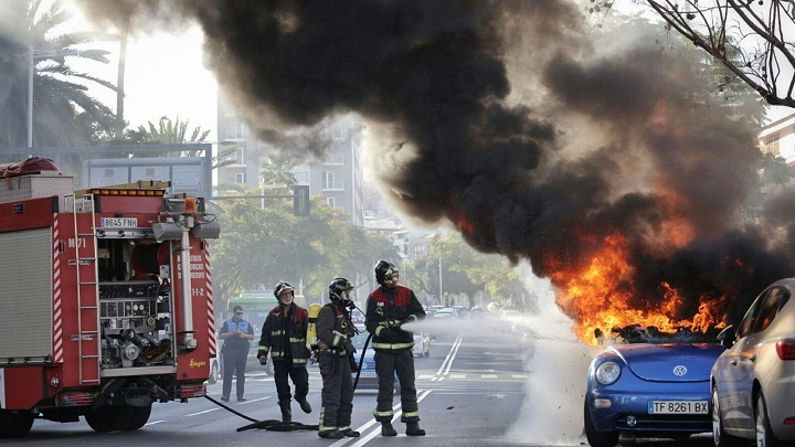 sofocando incendio beetle