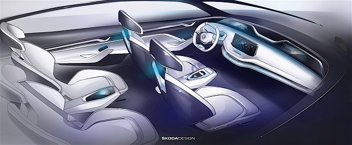 Skoda-Vision-E-interior-boceto